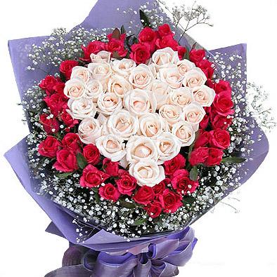 赣州鲜花:心心相印