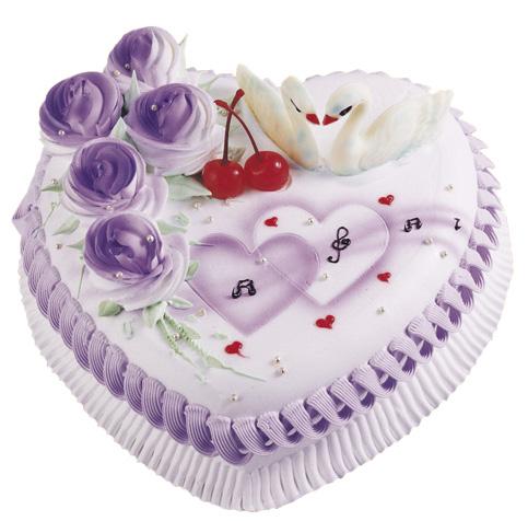 上海鲜花:情人心型蛋糕