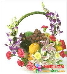 北京網上訂果籃鮮花