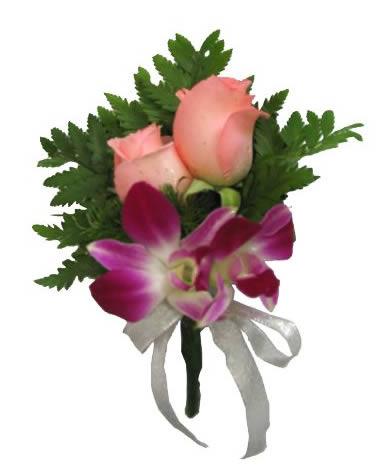 兰花玫瑰胸花