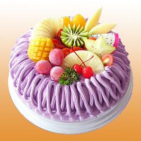 多彩水果蛋糕