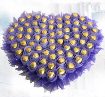厦门鲜花:心型巧克力