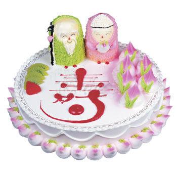 上海生日蛋糕:福寿双全