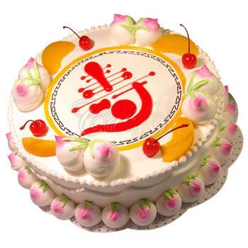 厦门生日蛋糕:仙桃祝寿