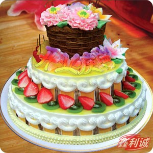 3�吁r奶水果蛋糕