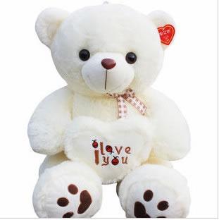 毛绒玩具熊-抱心熊