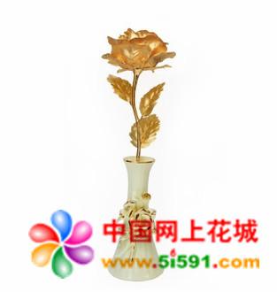 大号全开金箔玫瑰