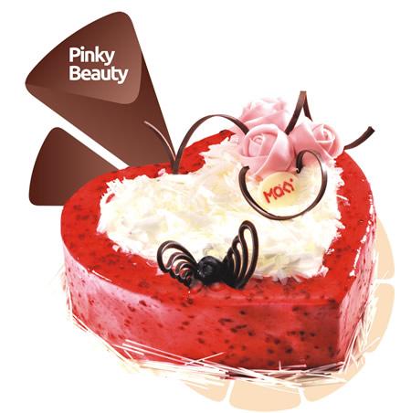 丽水生日蛋糕:米旗 甜粉佳人