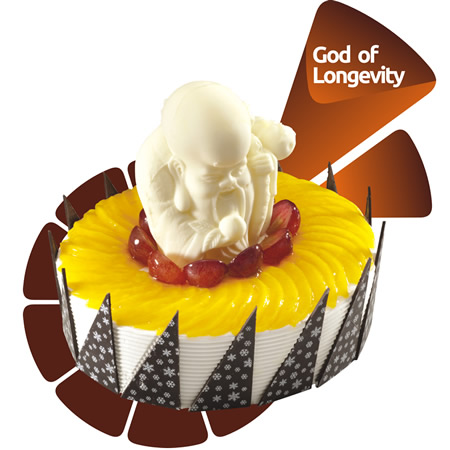 厦门生日蛋糕:米旗 寿星吉祥