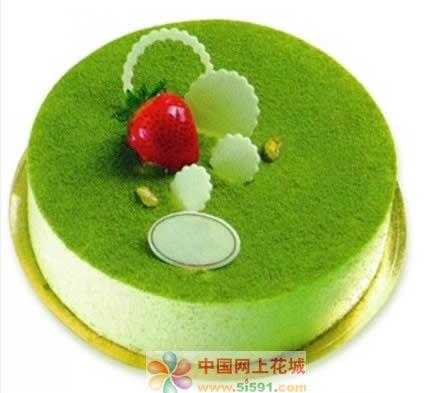 北京生日蛋糕:绿色烂漫