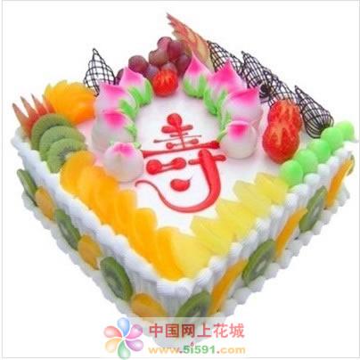 广州生日蛋糕:蟠桃贺寿