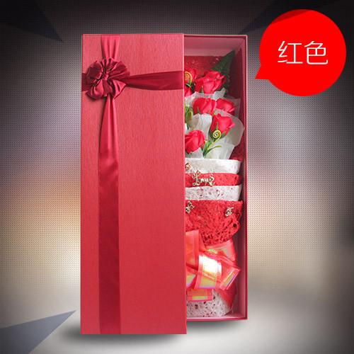 赣州鲜花:香皂花礼盒单红色