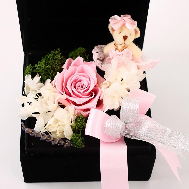 保鲜花-玫瑰小熊A款