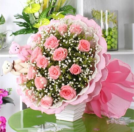 爱思鲜花:粉色爱琴海