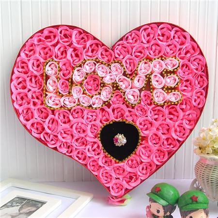 100朵love戒指粉色