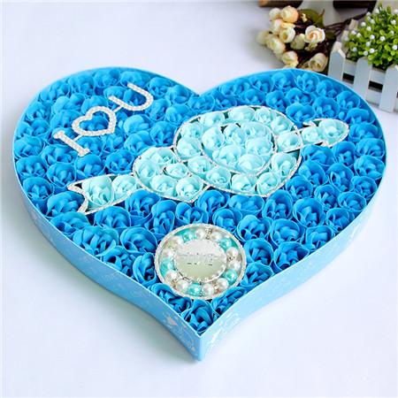 上海肥皂花:100朵一见钟情手链蓝色