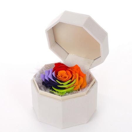 爱思鲜花:保鲜花 单朵七彩