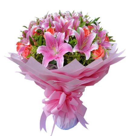 广州鲜花店:粉色爱情