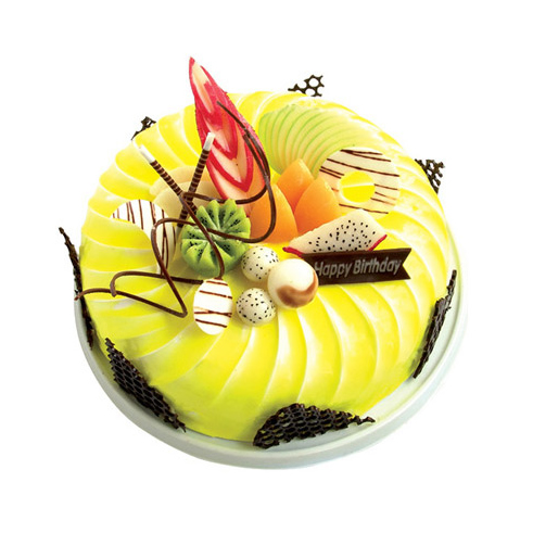 圆形鲜奶水果蛋糕