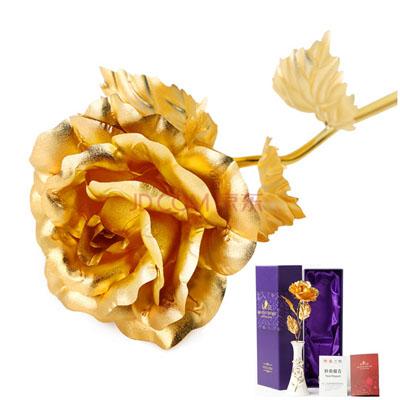 金箔玫瑰陶瓷花瓶