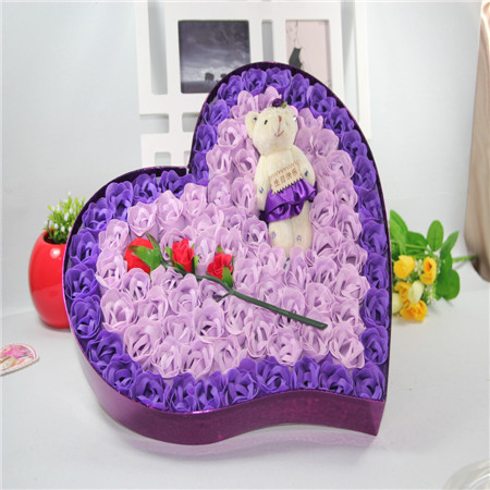济南肥皂花:92朵紫色炫彩小熊