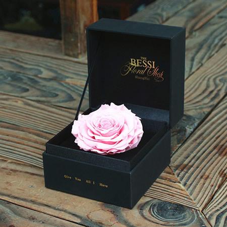 赣州永生花:永生花 粉色玫瑰