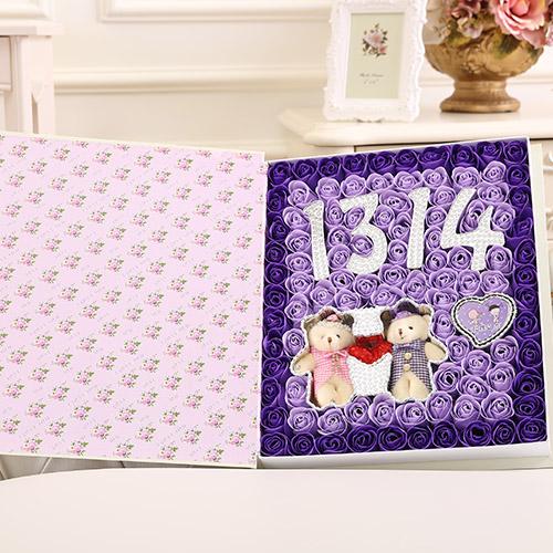 赣州肥皂花:香皂花1314+牵手熊 紫色