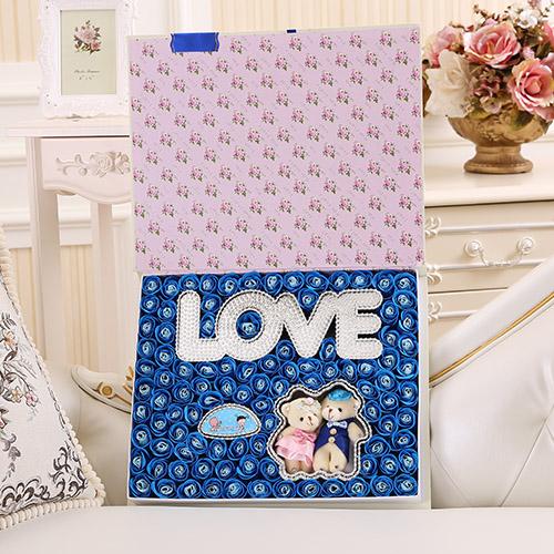 爱思水果篮:香皂花横版LOVE+抱熊 蓝色