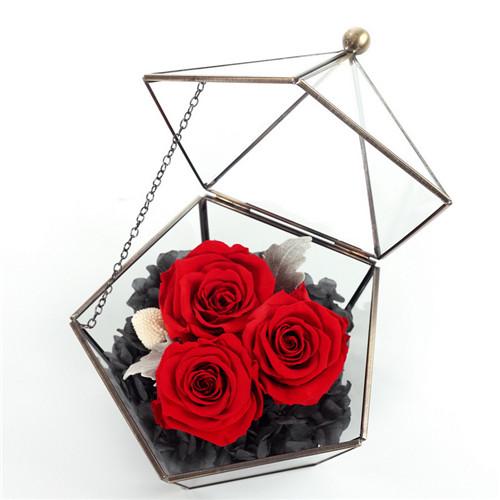 厦门花店:保鲜花五星玻璃花房红