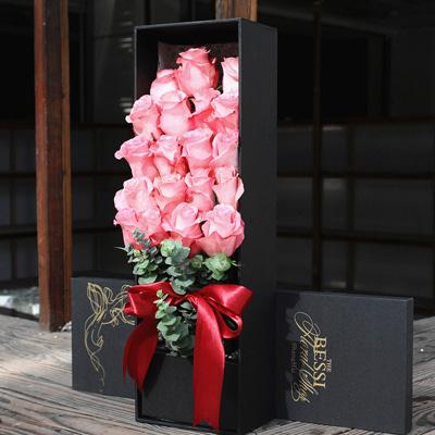 深圳永生花:进口花-粉色的热恋