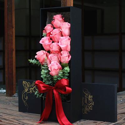 丽水永生花:进口花-粉色的热恋11支