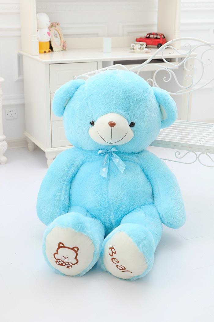 毛绒玩具-四色丝带熊