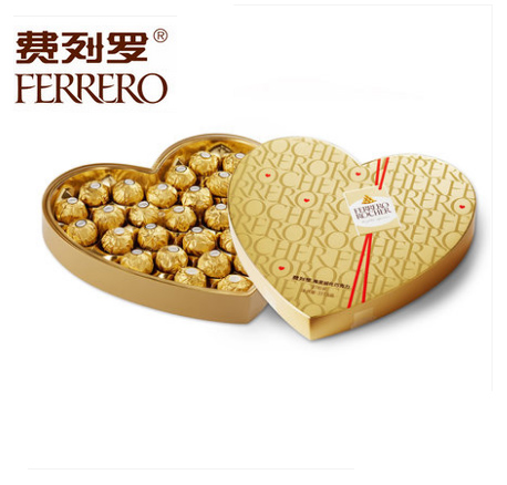 费列罗巧克力心形装