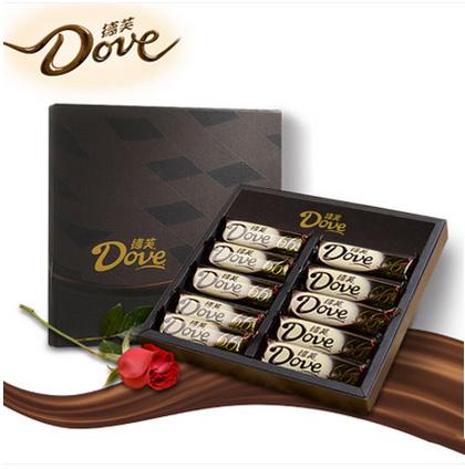 德芙巧克力礼盒66%醇黑巧克力