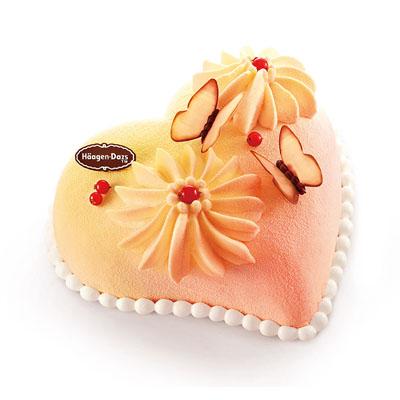 赣州生日蛋糕:哈根达斯 冰淇淋蛋糕 心花蝶恋