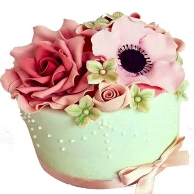 济南生日蛋糕:翻糖蛋糕 欲燃炽情