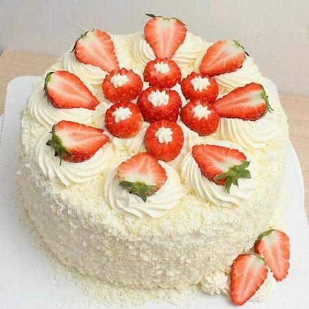 深圳生日蛋糕:草莓幸福快乐