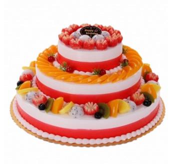 三层水果蛋糕