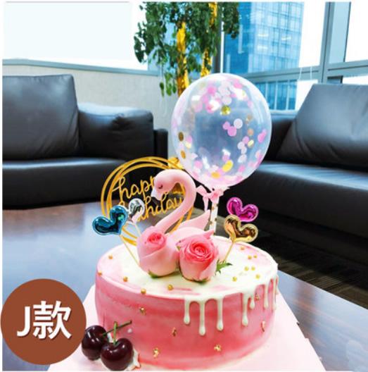 网红火烈鸟蛋糕J款