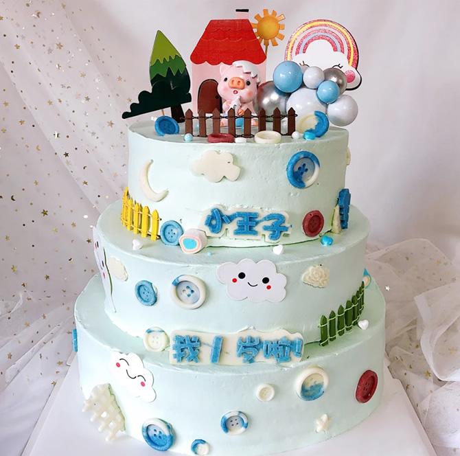 三层儿童蛋糕F款