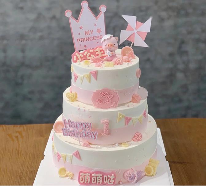 三层儿童蛋糕E款