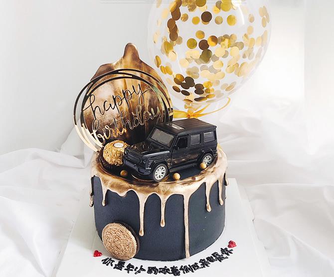 单层汽车蛋糕D款